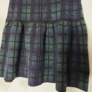Cynthia Rowley  knit check short skirt